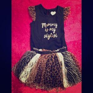 Shirt with tutu skirt